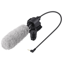 Sony Shotgun Microphone For Camcorders & DSLR Cameras (3.5 mm Gold Coated Stereo Mini-Plug, ECM-CG60 SYH, Black)_1