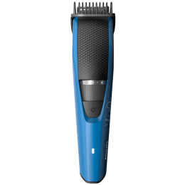 Philips Beardtrimmer Series 3000 Stainless Steel Blades Corded & Cordless Beard Trimmer (45 Min Run Time/2h Charge, 20 Length Settings, BT3105/15, Black/Blue)_1