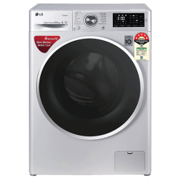 LG 6.5 Kg 5 Star Fully Automatic Front Loading Washing Machine (FHT1265ZNL.ALSQEIL, Luxury Silver)_1