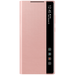 Samsung Silicone Smart Clear View Cover for Galaxy Note 20 (Anti-microbial Cover Protection, EF-ZN980CAEGIN, Mystic Bronze)_1