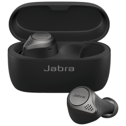 Jabra Elite In-Ear Truly Wireless Earbuds (Bluetooth 5.0, 75t, Titanium Black)_1
