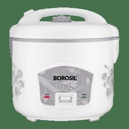 Borosil Pronto Deluxe 2.8 Litres 1000 Watts Rice Cooker (BRC28MPB23, Silver)_1