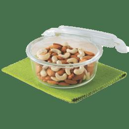 Borosil Klip-N-Store 620 ml Round Storage Container (IYKLSRNC620, Transparent)_1