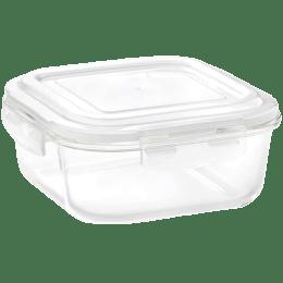 Borosil Klip N Store Food Container for Microwave, Fridge, Dishwasher (Airtight Seal, IYSQHSS1200, Transparent)_1