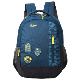 Skybags Stream 01 30 Litres Polyester Laptop Backpack (a, Dark Blue)_1