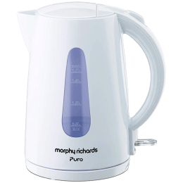 Morphy Richards Puro 1.7 Litres 2000 Watts Electric Kettle (Detachable Base, Dry Boil Protection, 590019, White)_1