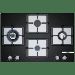 Bosch Serie 4 4 Burner Black Tempered Glass Built-in Gas Hob (PPI7S6F20I, Black)_1