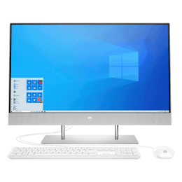 HP 24-dp0813in (180R6AA) Core i5 10th Gen Windows 10 Home All-in-One Desktop (8GB, 1TB HDD, 256GB SSD, Intel UHD Graphics, MS Office, 60.45cm, Natural Silver)_1