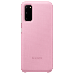 Samsung Galaxy S20 LED View Polycarbonate Flip Wallet Case Cover (EF-NG980PPEGIN, Pink)_1