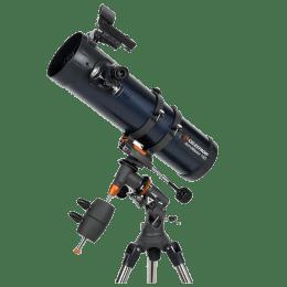Celestron AstroMaster 130EQ Newtonian Reflector Telescope (610 mm Optical Tube Length, 31045-DS, Black/Navy Blue)_1