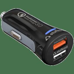Stuffcool Atom Plus 5.4 Ampere 2 USB Ports Car Charging Adapter (Qualcomm 3.0, ATOMPQC3, Black)_1