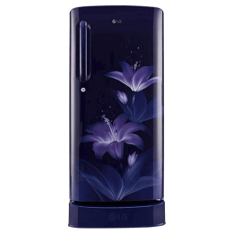 LG 215 Litres 5 Star Direct Cool Inverter Single Door Refrigerator (Smart Connect, GL-D221AESZ.DESZEB, Ebony Sheen)_1