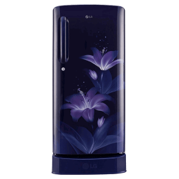 LG 190 Litres 4 Star Direct Cool Inverter Single Door Refrigerator (Smart Connect, GL-D201ABGY.ABGZEB, Blue Glow)_1