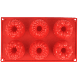 Wonderchef Pavoni Multi-Forme 6 Portions Mould for Microwave, Refrigerator (Good Elasticity, 63152909, Red)_1