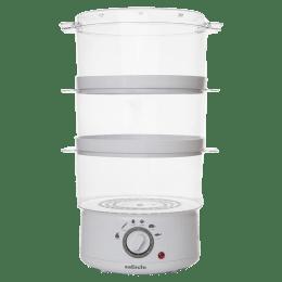 Sabichi 7.2 litres 400 Watts Three Tier Food Steamer (89557, White)_1