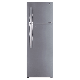 LG 360 Litres 3 Star Frost Free Inverter Double Door Refrigerator (Convertible Plus, GL-T402JPZ3.DPZZEBN, Shiny Steel)_1