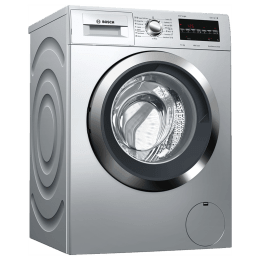 Bosch Serie 6 7.5 kg Fully Automatic Front Load Washing Machine (Reload Function, WAT2846LIN, Silver)_1