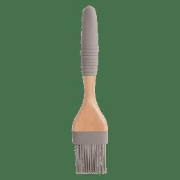 Sabichi Silicone Bamboo Flat Brush for Non Stick Cookware (148513, Grey)_1