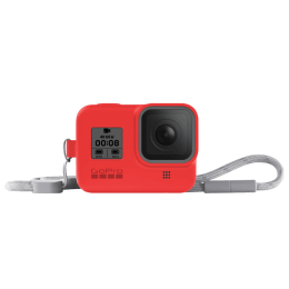 GoPro Sleeve Plus Lanyard for Hero 8 (AJSST-008, Firecracker Red)_1
