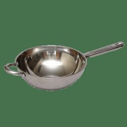 Sabichi Essential Stainless Steel Kadhai/Wok (2.5 litre, 26cm diameter, 93806-I, Silver)_1