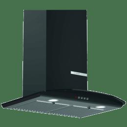 Bosch Serie 2 745 m³/hr 60cm Wall Mounted Chimney (DWH068D60I, Black)_1