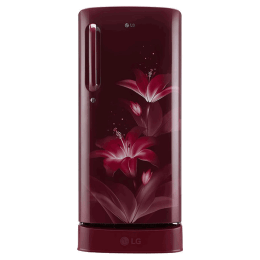 LG 190 Litres 4 Star Direct Cool Inverter Single Door Refrigerator (Smart Connect, GL-D201ARGY.ARGZEB, Ruby Glow)_1