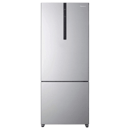 Panasonic 450 Litres 3 Star Frost Free Inverter Double Door Refrigerator (Bottom Mount, ECONAVI: Smart Cooling Technology, NR-BX468VVX3, Shining Silver)_1
