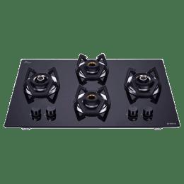 Elica Classic Flexi 4 Burners Built-in Hob (AB HCT 4B 70 D, Black Glass)_1