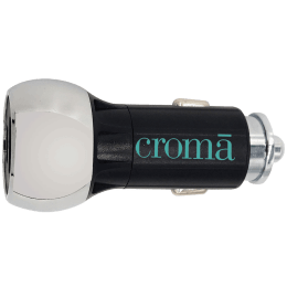 Croma 36 Watts 2 USB Ports Car Charging Adapter with Cable (Fast Charging, CRCA3000, Black)_1