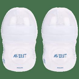 Philips Avent 125 ML 2 Pieces Natural Baby Bottle (SCF030/20, Transparent)_1