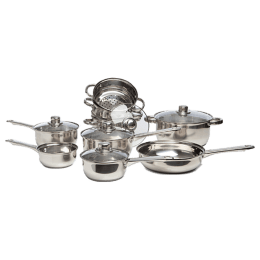 Sabichi Stainless Steel Cookware Set (9 pieces, 173652, Silver)_1