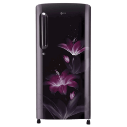 LG 190 Litres 4 Star Direct Cool Inverter Single Door Refrigerator (Smart Connect, GL-B201APGY.APGZEB, Purple Glow)_1