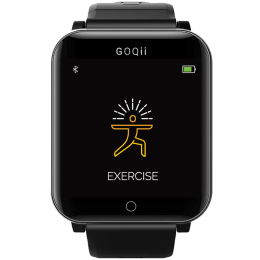 GOQii Smart Vital Smartwatch (33mm) (Integrated Pulse Oximeter, Black, Buckle Band)_1