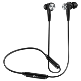 Ant Audio Wave Sports Bluetooth Earphones (535, Black and Silver)_1