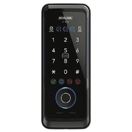 Schlage Digital Rim Lock (Works with Fingerprint, S-510, Black)_1
