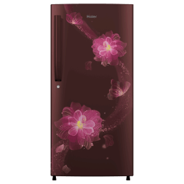 Haier 195 Litres 4 Star Direct Cool Single Door Refrigerator (Stabilizer Free Operation, HRD-1954PRB-E, Red Blossom)_1