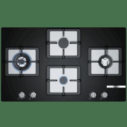 Bosch Serie 4 4 Burner Black Tempered Glass Built-in Gas Hob (PPI9S6F20I, Black)_1