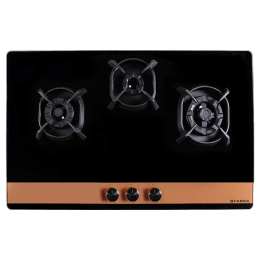 Faber 3 Burner Toughened Glass Built-in Gas Hob (Flame Failure Device, Utopia HT903 CRS BR CI AI, Black)_1
