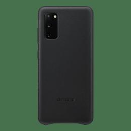 Samsung Galaxy S20 Genuine Leather Back Case Cover (EF-VG980LBEGIN, Black)_1