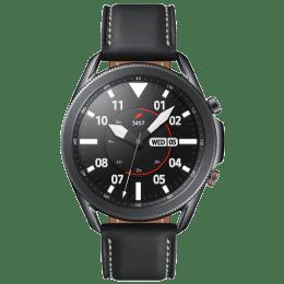 Samsung Galaxy Watch3 Smartwatch (GPS+Cellular, 45mm) (Blood Oxygen Monitoring, SM-R845FZKAINS, Mystic Black, Leather Strap)_1
