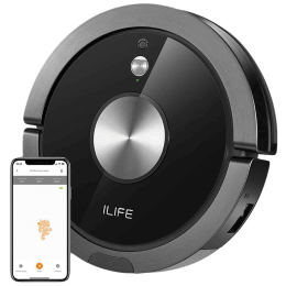 Ilife A9s 26 Watts Robotic Vacuum Cleaner (0.45 Litres Tank, B07RM3SQB4, Black)_1
