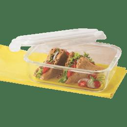 Borosil Klip-N-Store 640 ml Rectangle Storage Container (IYKLSRTC640, Transparent)_1