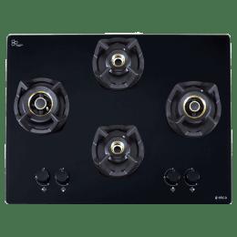 Elica Classic 4 Burners Built-in Hob (AB 4B 70 DX, Black Glass)_1