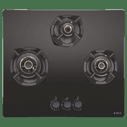 Elica Classic 3 Burners Built-in Hob (AB MFC 3B 60 M, Black Glass)_1