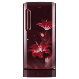 LG 215 Litres 4 Star Direct Cool Inverter Single Door Refrigerator (Smart Connect, GL-D221ARGY.DRGZEB, Ruby Glow)_1
