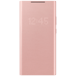 Samsung Silicone Smart LED View Cover for Galaxy Note 20 Ultra (Convenient Alerts, EF-NN985PAEGIN, Mystic Bronze)_1