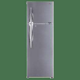 LG 360 Litres 2 Star Frost Free Inverter Double Door Refrigerator (Convertible Plus, GL-T402LPZU.EPZZEB, Shiny Steel)_1
