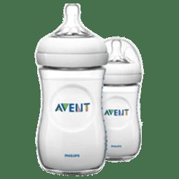 Philips Avent 260 ML 2 Pieces Natural Baby Bottle (SCF033/20, Transparent)_1