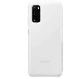 Samsung Galaxy S20 LED View Polycarbonate Flip Wallet Case Cover (EF-NG980PWEGIN, White)_1