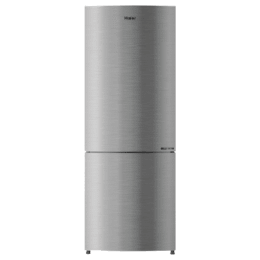 Haier 276 Litres 3 Star Frost Free Inverter Double Door Refrigerator (Bottom Mount, 8-in-1 Convertible, HRB-2964CIS-E, Inox Steel)_1